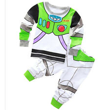 2PCS Buzz Lightyear Cotton Pajama Set Baby Boys Clothing Sleepwear T-shirt+Pants