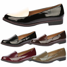 WOMENS SHOES LADIES LOAFERS FLATS WORK OFFICE SMART LOW HEELS PUMPS SLIP ON SIZE