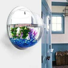 Wall-mounted Fish Tank Bubble Aquarium Bowl Plant Pot Modern Home Decor W0OF
