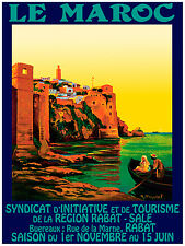 315.Art Decoration POSTER.Graphics to decorate home office. Le Maroc Travel.Art