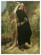 1296 indian chief Wall Art Decoration POSTER.Graphics to decorate home office.