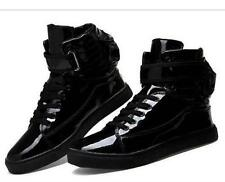 2016 Fashion Mens Lace Up Athletic Sneakers High Top Sports Dancing Shoes Size