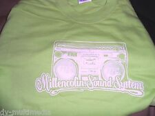 MILLENCOLIN SOUND SYSTEM - Lime Green Boombox t-shirt ~BRAND NEVER WORN~