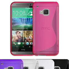 S-LINE GRIP TPU SILICONE RUBBER GEL CASE COVER SKIN FOR HTC ONE (M9) 2015 PHONE