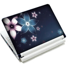 "Blue Flower Skin Sticker Cover Decal Fits 10.4""-15.6"" HP IBM Sony VAIO Laptop PC"