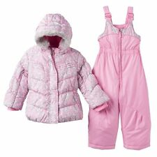 Toddler Girls ZeroXposur Puffer Winter Jacket Coat Bib Snow Pant Set Snowsuit
