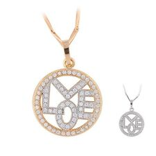 Created jewelry! chain white sapphire ladies 18k Gold Platinum filled necklace