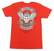 West Coast Choppers Bikers Red Skull Wing T-Shirt