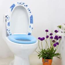 3 Color Home Winter Soft Polyester Bathroom Toilet Seat Mat&Toilet Lid Cover Set