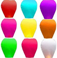 Lot Mix Color Chinese Paper Lanterns Sky Fly Fire Candle Lamp Wish Party Wedding