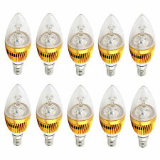 10x E12 3W 6W 9W Dimmable Sharp High Power LED Chandelier Candle Light Bulb 110V