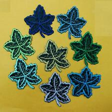 2 Maple Leaf Iron on Sew Patch Cute Applique Badge Embroidered Flower Garden Lot