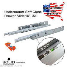 "18""-22"" Full Extension Soft Close Undermount Cabinet Concealed Drawer Slides"