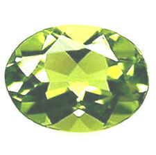 Stunning Oval cut Lime Green Russian CZ AAAAA 7x5 - 9x7 mm