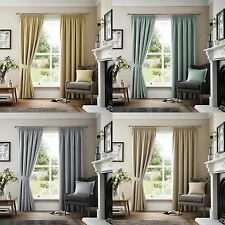 CURTINA® LINED TAPE CURTAINS MARLOWE BISCUIT NATURAL GREY DUCK EGG