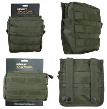 Army Combat Military Molle Travel Utility Surplus Webbing Belt Bag Pouch Green