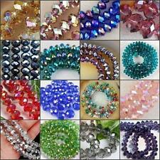Wholesale Girls Crystal Faceted Rondelle Loose Beads Glass Multi Color New f16