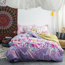 New Pink 100% Cotton Queen/Double/Single Size Bed Quilt/Doona/Duvet Cover Set 3P