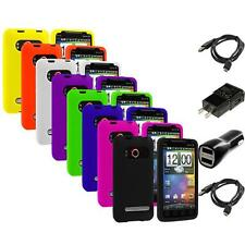 Color Silicone Rubber Gel Skin Case for HTC Sprint EVO 4G 2X Chargers