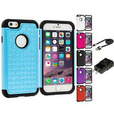 For iPhone 6 (4.7) Hybrid Diamond Shockproof Impact Hard Bling Case Accessories