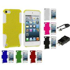 Hybrid Mesh Color Hard/Soft Skin Gel Case for iPod Touch 5th Gen 5G Accessories