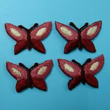 4 Butterfly Punk Iron on Patch Embroidered Applique Sew Motif Biker Rock Cute In