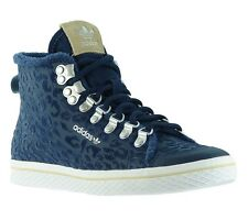NEW adidas Shoes women's sneakers Honey Hook High Top Blue Trainers Leisure