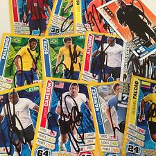 MATCH ATTAX & WORLD CUP 2014 SIGNED CARDS CHOOSE FROM LIST AUTOGRATHED ,