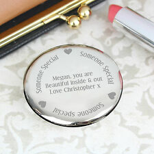 Personalised Wedding Compact Mirror- Wedding favours, Gifts, Engagement