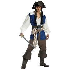 Captain Jack Sparrow Deluxe Pirates of the Caribbean Adult Halloween Costume