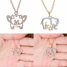 Rhinestone Style Animal Pendant Long Chain Crystal Necklace Women Valentine Gift