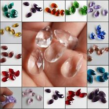 10PCS Size 10x18mm Faceted waterdrop Crystal Loose Spacer Beads