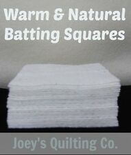 "50-7"" Warm & Natural Cotton Batting Squares Pot Holders Rag Quilt As You Go"
