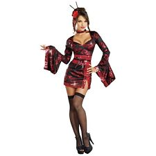 Geisha Costume Adult Dragon Lady Halloween Fancy Dress