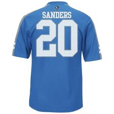 NEW Mens MAJESTIC Detroit Lions Barry Sanders Hall Of Fame #20 Blue Jersey Shirt