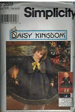 "7359 UNCUT Simplicity Sewing Pattern Girls Daisy Kingdom Dress + 18"" Doll Dress"