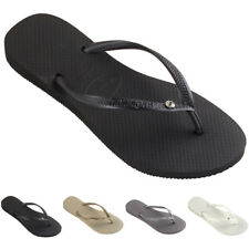Womens Havaianas Slim Crystal Glamour Sw Summer Rubber Diamante Flip Flop UK 1-8