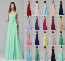 2017 Chiffon Beach Dress Long Evening Ball Gown Party Prom Bridesmaid Dress 6-18