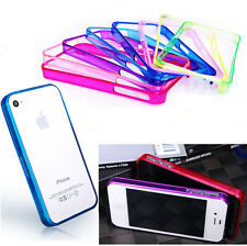Ultra Thin Transparent Clear PC Hard Frame Case Cover For Apple iPhone 4 5 S G