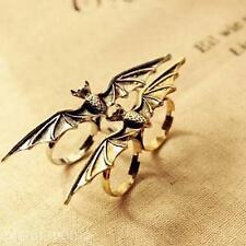 Retro Cool Unisex Vampire Bat Wing Two / Double Finger Stretch Adjustable Ring