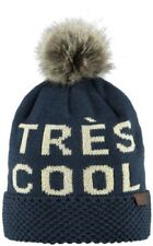 Barts Ladies Hat Woman's Ashley Beanie One Size Statement - Navy, Cream