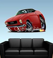 1966 Mustang Coupe Ford FAT WALL GRAPHIC DECAL MAN CAVE MURAL 6569 cartoontees