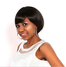 Hot Women Fashion Short Straight Synthetic Hair Wigs Full Wigs Black/Brown Wig