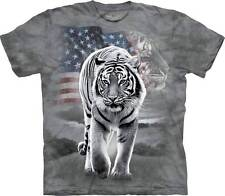 PATRIOTIC TIGER ADULT T-SHIRT THE MOUNTAIN