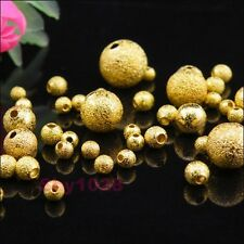 Gold Plated Copper Round Stardust Spacer Beads 3mm,4mm,6mm,8mm,10mm R5084