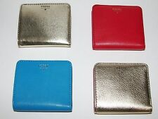 NEW FOSSIL SYDNEY BIFLOD,BLUE OR RED OR METALLIC GOLD OR GOLD LEATHER,WALLET