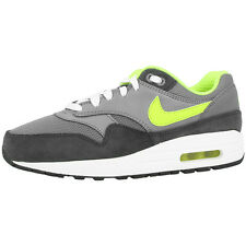 NIKE AIR MAX 1 GS SHOES SNEAKERS GREY VOLT ANTHRACITE 555766-045 LTD CLASSIC 90