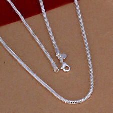 Free Shipping Wholesale 925silver 3mm snake bone chain necklace 16-24inch N192