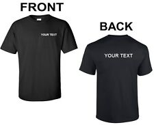 Custom Personalized T-Shirt Your Text Business Name Text Any Font Shirt