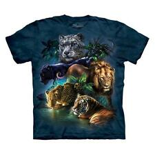 BIG JUNGLE CATS ADULT T-SHIRT THE MOUNTAIN